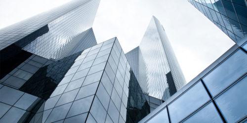 Mehrere Bankgebäude