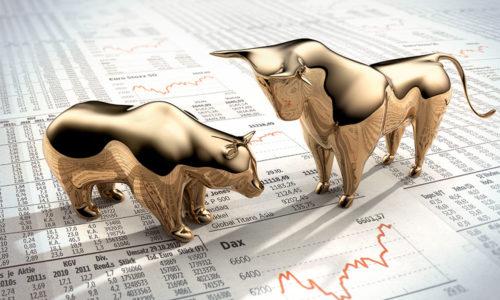 Aktienmarkt, Bulle und Bär