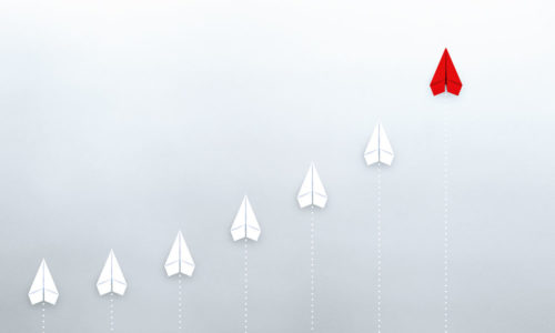 IT-Outsourcer DATAGROUP, Papierflieger nach oben steigend