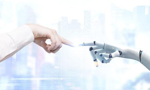 Roboterhand und Menschenhand - Robotics Spezialist Almato gehört nun zu DATAGROUP