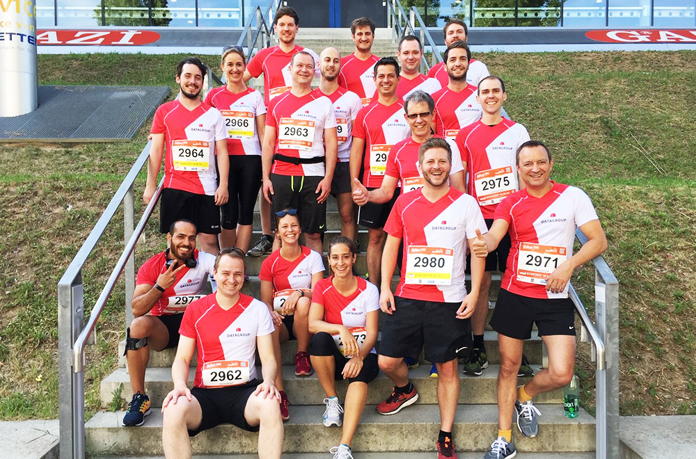 DATAGROUP Team beim B2Run in Stuttgart