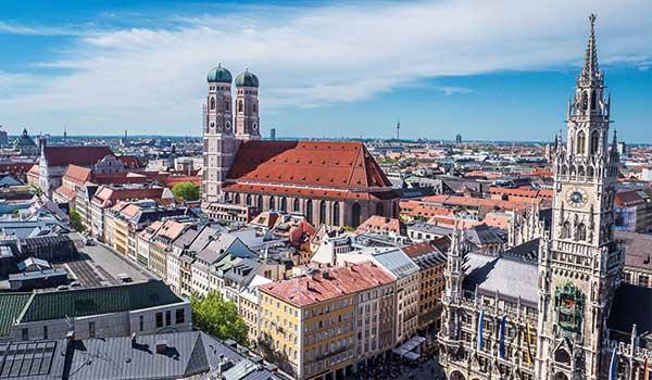 DATAGROUP Standort München: Blick aufs Zentrum