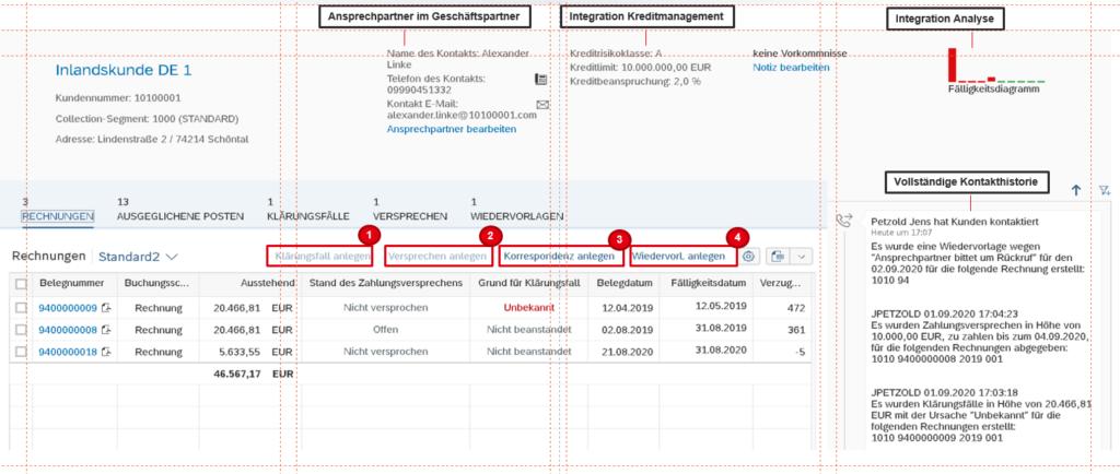 Übersicht der SAP FSCM Module in SAP am Beispiel eines fiktiven Inlandskunden