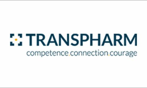 Logo, bestehend aus der Beschriftung: Transpharm. comptenece. connection. courage.